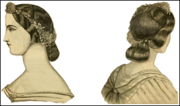The Coiffure Caliste, Godey's Lady's Book, September 1863.
