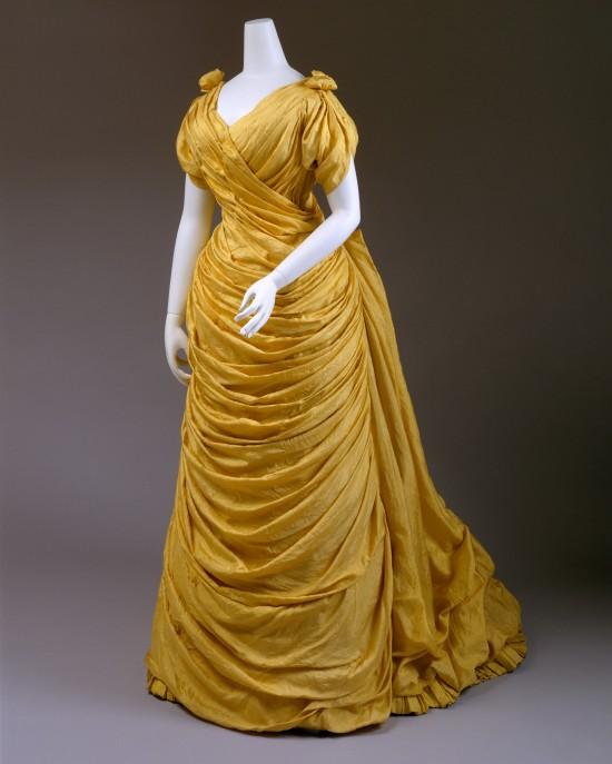 1880s Liberty of London Silk Evening Dress.(Met Museum)