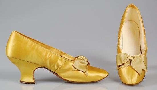 1890-1899 J. Ferry Silk Evening Slippers.(Met Museum)