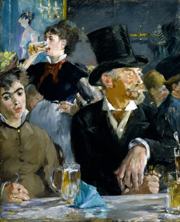 At the Café by Édouard Manet, 1879.