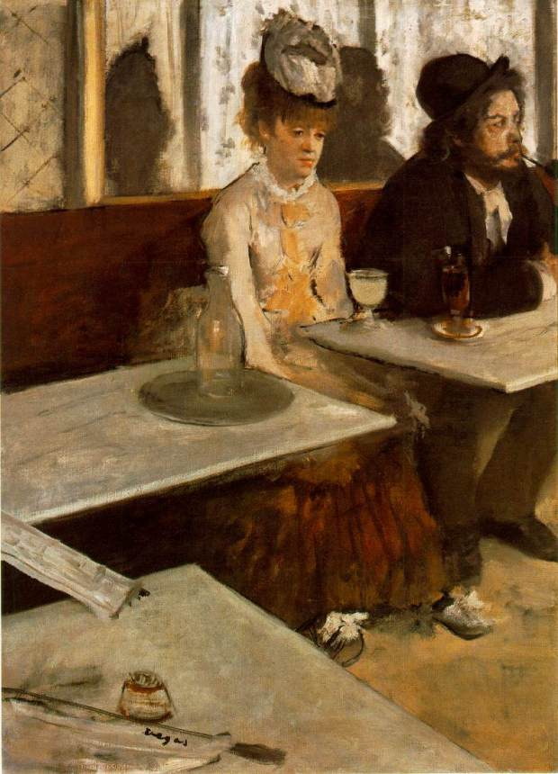 L'Absinthe, by Edgar Degas, 1876.