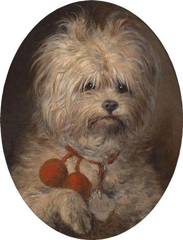 Portrait of a Dog by Carl Reichert, (1836-1918).