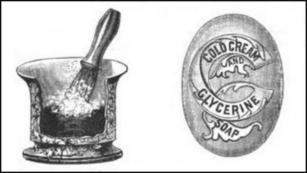 Vestal Shaving-Soap Vase, Chemist and Druggist, 1897.