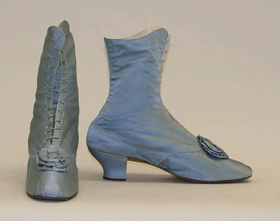 1870s Silk Shoes.(Met Museum)