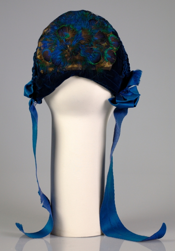 1880 Silk and Feather Evening Bonnet.(Met Museum)
