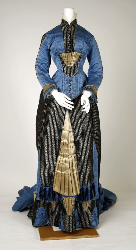 1880 Silk Dress.(Met Museum)