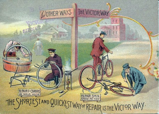 Advertisement for the Victor Bicycle, 1894.