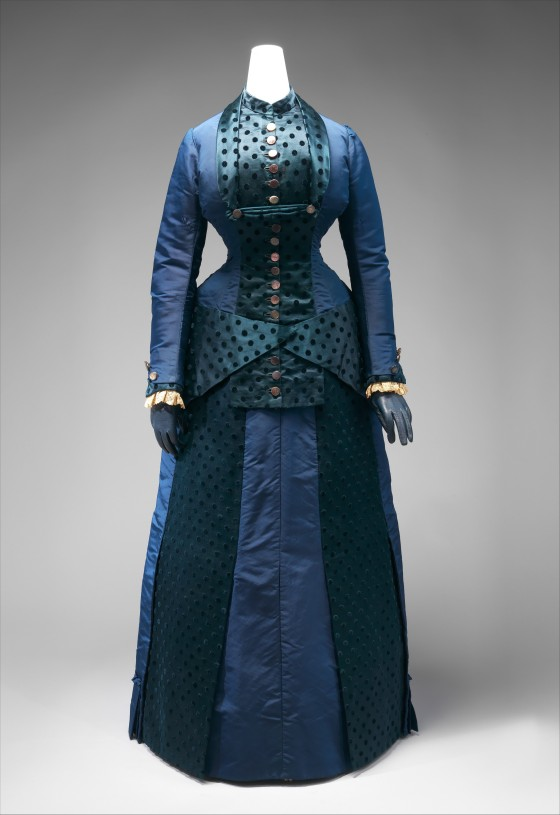 Early 1880s Silk Dress.(Met Museum)