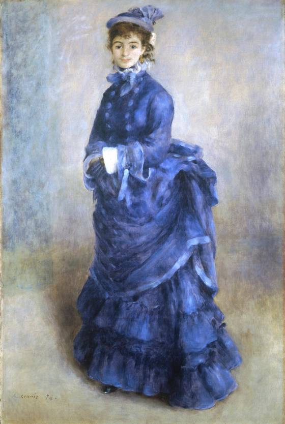 La Parisienne (The Blue Lady) by Pierre-Auguste Renoir, 1874.(National Museum of Wales)