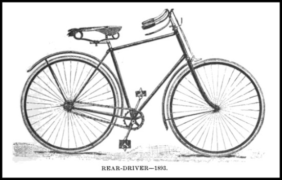 Illustration of a Rear-Driver Bicycle.The Modern Bicycle, 1896.